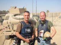 Jag och Paul Hansen i Irak
