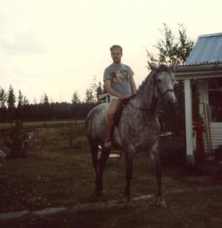 80-tal: jag till häst