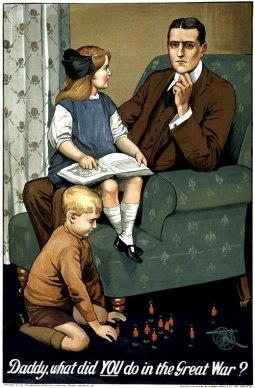 Brittisk rekryteringsaffisch från Första världskriget