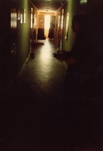 Korridoren efter en fest.