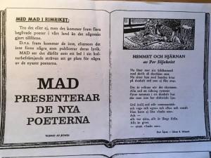 Min förste lärare på Historicum, Kurt Ågren, skrev också i Svenska Mad.