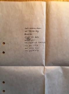 Ett diktförsök från någon av 80-talets hjärtekriser.
