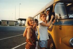 På bussresa med goda vänner ned genom Europa sommaren 1984.